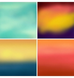 Abstract colorful blurred backgrounds set 4 vector