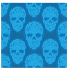 Blue File Skull Pattern vector image