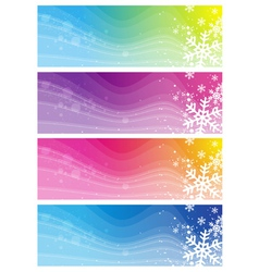 Modern banners with snowflakes vector