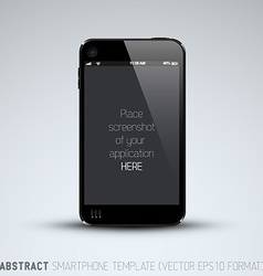 Abstract mobile phone template vector