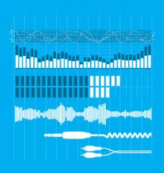 Sound elements vector