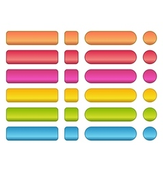 Colorful set of blank buttons vector