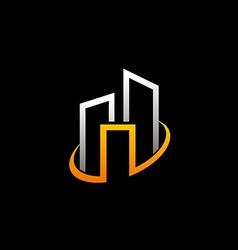 Cityscape building abstract logo vector