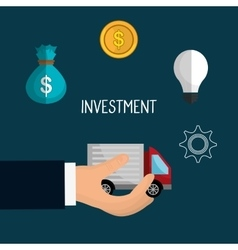 Car and vehicles business investment vector