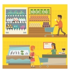 Grocery shop two vector