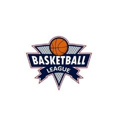 Logo for a basketball team or a league vector