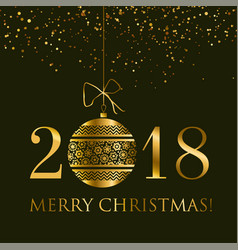 abstract gold new year baubles vector image