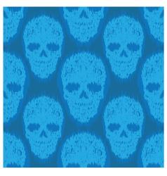 Blue file skull pattern vector