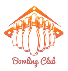 bright bowling club banner vector image