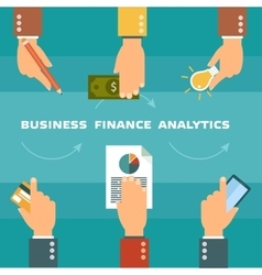 Clients purchasing work in flat style vector image