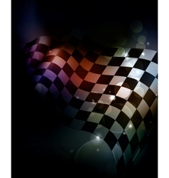 Dark Checkered Background vector image vector image