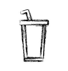 delicious soda cup vector image