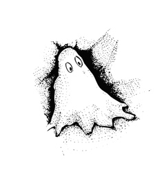 Drawing of cute ghost isolated vector