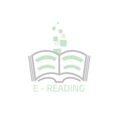 e-reading logo vector image