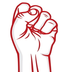 fist red vector image vector image
