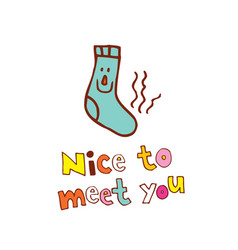 Nice to meet you vector