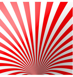 red volumetric striped background cone red and vector image vector image