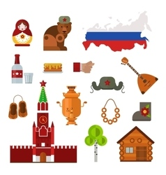 Russia set vector image
