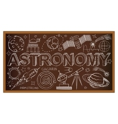School board doodle with astronomy symbols vector image