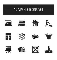 Set of 12 editable hygiene icons includes symbols vector