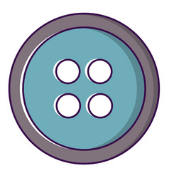 sewing button icon cartoon style vector image