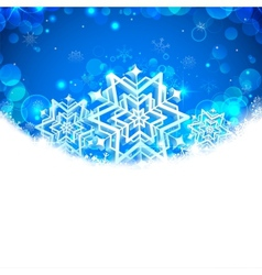 Snowflakes Christmas Banner vector image