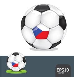 soccer ball czech euro flag vector image vector image