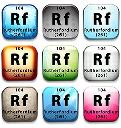 The chemical element rutherfordium vector