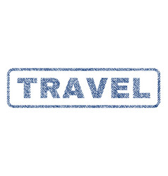 Travel textile stamp vector
