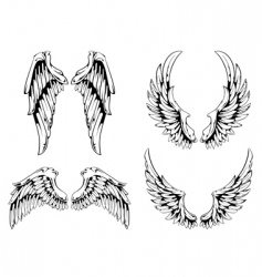 wings for your vintage design vector image vector image