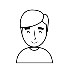 Teen boy character avatar vector
