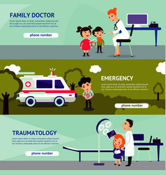 Sick people horizontal banners vector