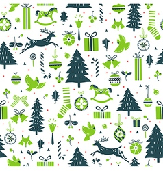 Festive winter pattern vector