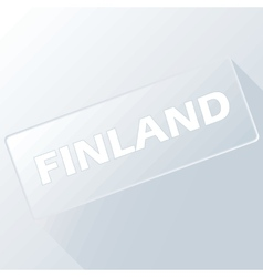 Finland unique button vector