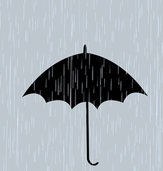 Umbrella in the rain vector