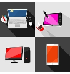 Set of high tech icons vector