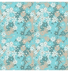 Light floral chamomile retro vintage pattern vector