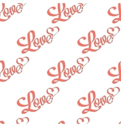 Pattern with inscription love vector