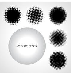 Halftone circles set vector image