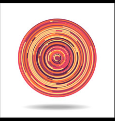 Abstract digital circles background vector