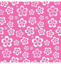 Abstract Retro Seamless Pink Flower Pattern - vector image vector image