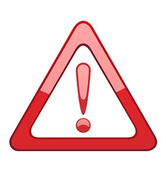 Attention symbol vector image vector image