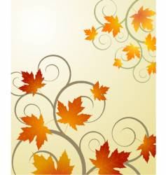 Autumn concept background vector