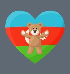 Azerbaijani Teddy Bears vector image vector image