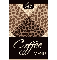 Coffee shop menu vector image vector image