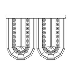 Cornice single icon in outline stylecornice vector