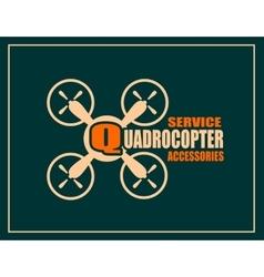 Drone icon quadrocopter service and accessories vector