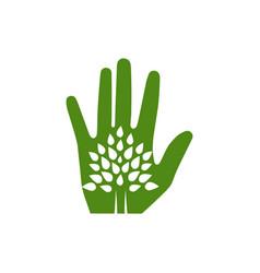 eco-friendly tree hand vector image