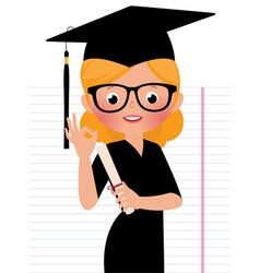 Graduate vector image vector image