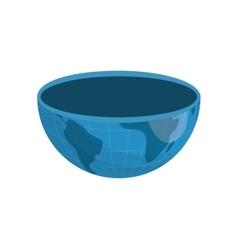 Half of planet icon Earth design graphic vector image vector image